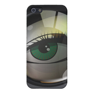 Professional photo lens illustration cover for iPhone 5