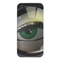 Professional photo lens illustration iPhone SE/5/5s case
