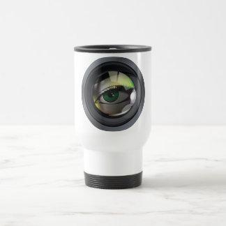 Professional photo lens illustration coffee mug