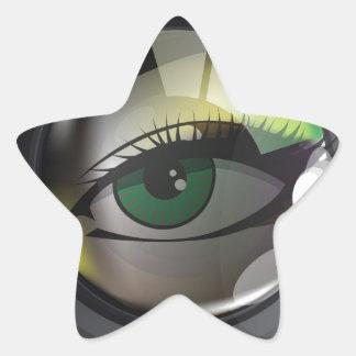 Professional photo lens star sticker