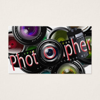 Professional Photo Photographer Business Card