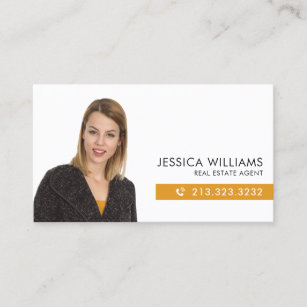 professional photo real estate business card - Real Estate Agent Business Cards