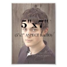 Professional Photo Template 5 X 7 Aspect Ratio at Zazzle
