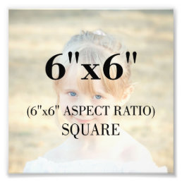 Professional Photo Template 6 x 6 Inch Square