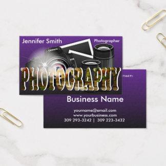 Professional Photographer Camera Business Card