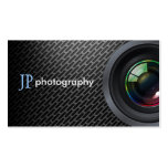 Professional Photographer Camera Lens Business Card Templates