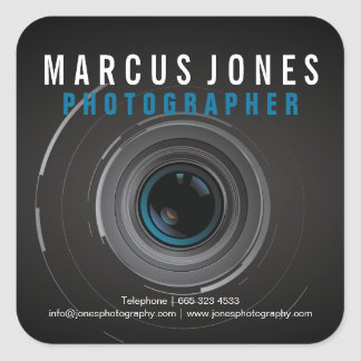 Professional Photographer Camera Lens Stickers