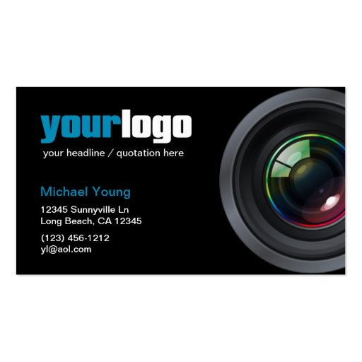 Professional grapher Camera Lens your logo Business