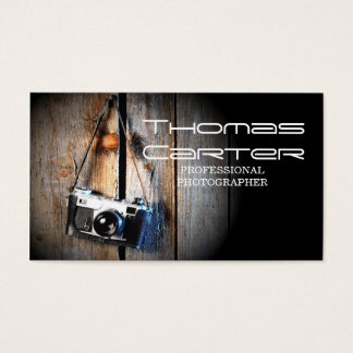 Professional Photographer Camera Photo Card