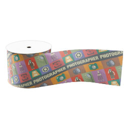 Professional Photographer Iconic Designed Grosgrain Ribbon