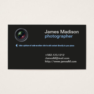 Professional Photography Business Card w/ QR Code