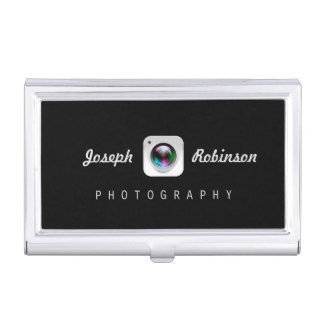 Professional Photography Camera Lens Logo Symbol Business Card Case