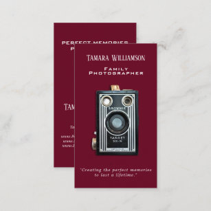 Vintage photography business cards zazzle professional photography vintage camera photo business card reheart Choice Image