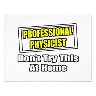 Professional Physicist...Joke Custom Announcement