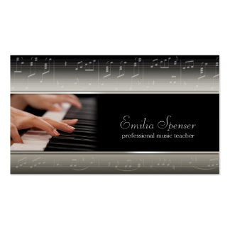Professional Piano Music Teacher Card