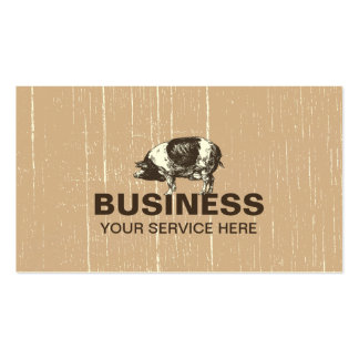 Professional Pig Farm Double-Sided Standard Business Cards (Pack Of 100)