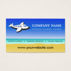 Professional Pilot Scenic Flights Business Cards at Zazzle
