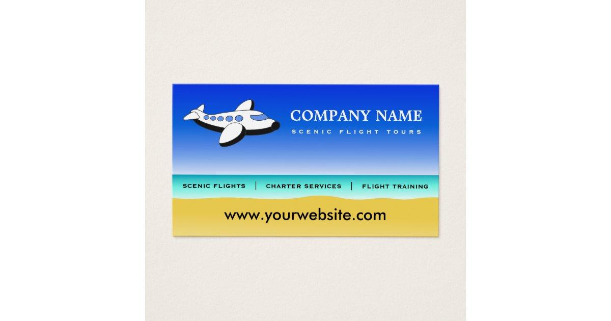 Professional Pilot Scenic Flights Business Cards | Zazzle.com