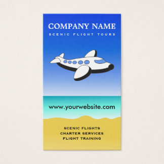 Professional Pilot Scenic Flights Business Cards