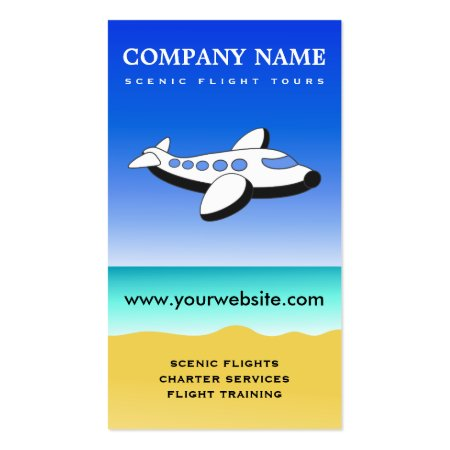Scenic Flight Tours Joyrides and Instructional Flights Pilot Business Cards