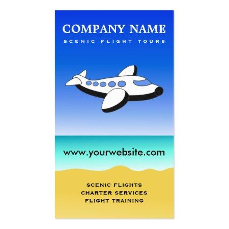 Scenic Flight Tours Joyrides and Instructional Flights Pilot Business Cards