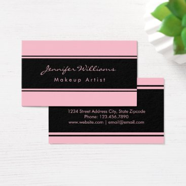 Professional Business Professional Pink And Black Business Card