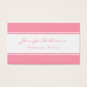 Professional Business Professional Pink And White Business Card