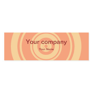 Professional pink circle business cards