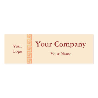 Professional pink keystone business cards