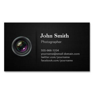 Professional Plain Black - Camera Photographer Business Card Magnet