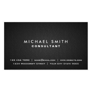 Professional Plain Black Elegant Modern Simple Double-Sided Standard Business Cards (Pack Of 100)