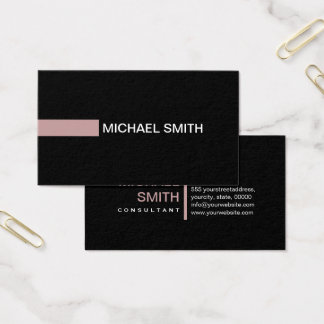 Professional Plain Black Elegant Modern Tuscany Business Card