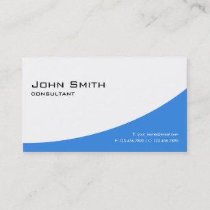 Computer business cards zazzle professional plain blue elegant modern computer business card colourmoves