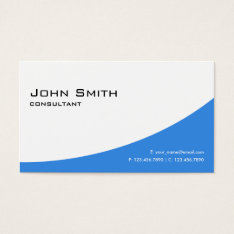 Professional Plain Blue Elegant Modern Computer Business Card at Zazzle