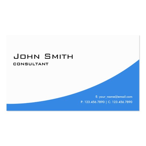 Professional Plain Blue Elegant Modern Computer Double-sided Standard Business Cards (pack Of 100)