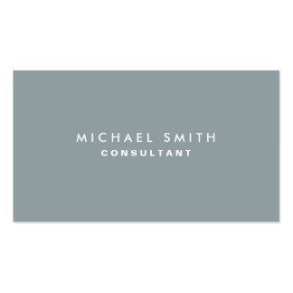 Professional Plain Elegant Interior Decorator Gray Double-Sided Standard Business Cards (Pack Of 100)