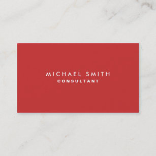 Interior decorator business cards templates zazzle professional plain elegant interior decorator red business card colourmoves