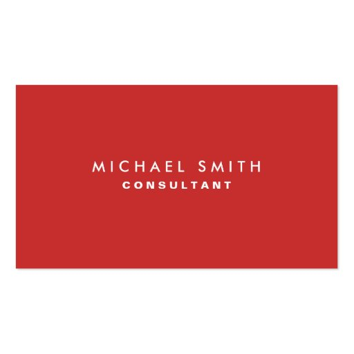 Professional Plain Elegant Interior Decorator Red Double-sided Standard Business Cards (pack Of 100)