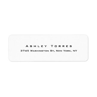 Professional Plain Elegant Modern Black & White Label