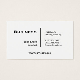 Professional Plain Elegant Modern Computer Repair Business Card at Zazzle