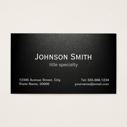 Professional Plain Matte Black Simple Stylish Business Card