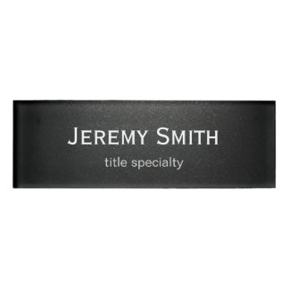 Professional Plain Matte Black Simple Stylish Name Tag