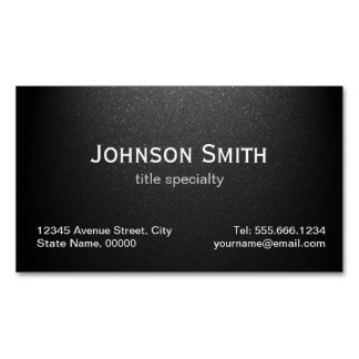 Professional Plain Matte Black - Simple Stylish Magnetic Business Cards (Pack Of 25)