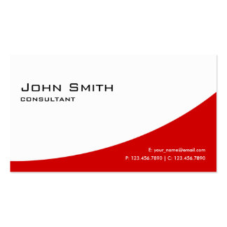 Professional Plain Red Elegant Modern Real Estate Double-Sided Standard Business Cards (Pack Of 100)