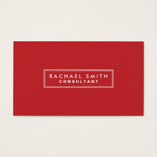 Professional Plain Red Elegant Real Estate Business Card
