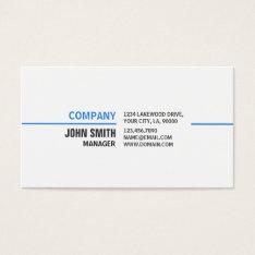 Professional Plain Simple Elegant White Computer Business Card at Zazzle