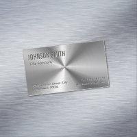 Professional Plain Sliver Radial Metallic Look Business Card Magnet