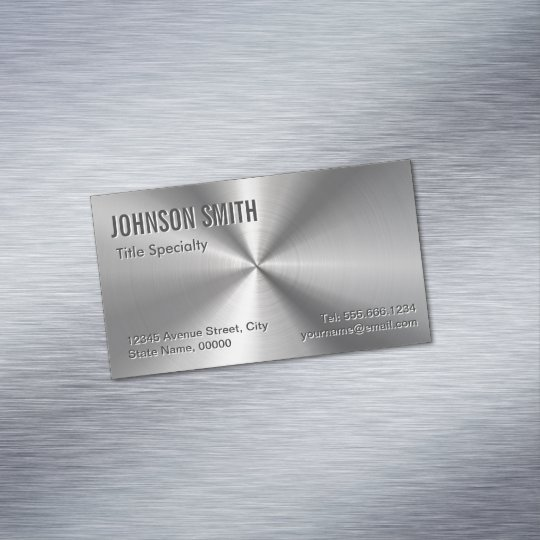 Professional plain sliver radial metallic look business card magnet professional plain sliver radial metallic look business card magnet reheart Gallery