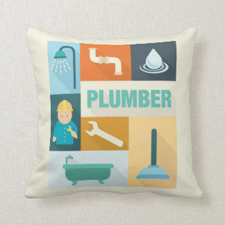 Professional Plumber Iconic Designed Throw Pillow