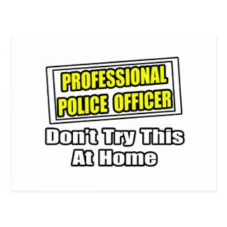 Professional Police Officer...Joke Postcard